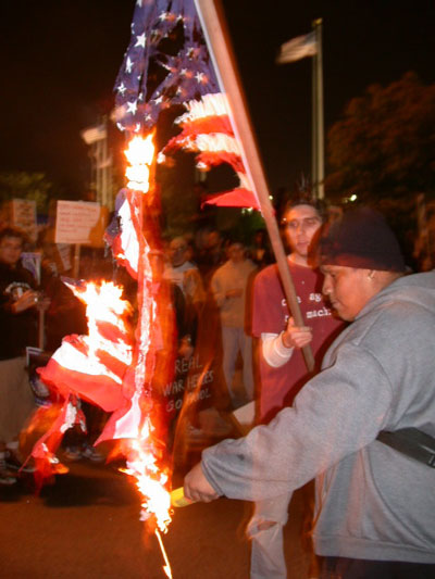 the flag burning debate continues When the college then took down the flag to de-escalate emotions, national headlines, debate, and protests broke out first amendment experts quickly schooled president-elect trump on flag burning.